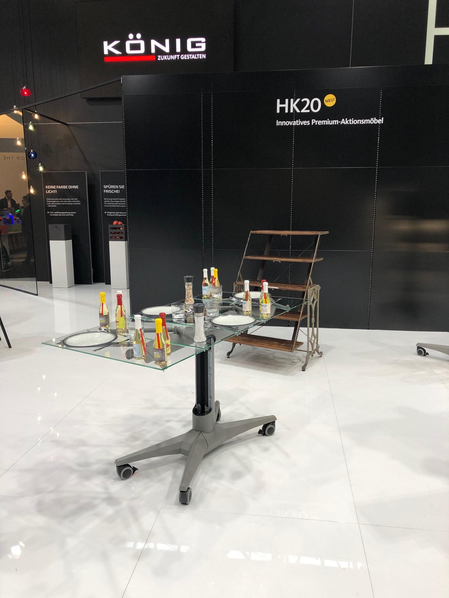 HK 20 als Tisch